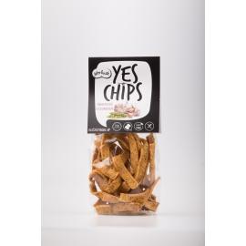 Chipsy hrachové s česnekem YES CHIPS 80g
