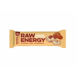 Bombus raw energy tyčinka CASHEW & COFFEE 50g
