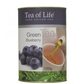 Zelený čaj borůvka Tea of Life 100g