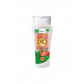 Opalovací mléko DUO SUN OF 16 Cannabis + Panthenol 265 ml