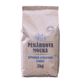 Mouka pšeničná celozrnná jemná Pekárkova 2kg